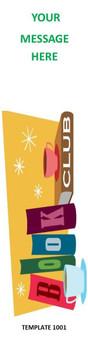Book Club Theme 2.75 x 8.5 Personalized Premium 16pt Custom Bookmarks