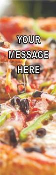 Food, Pizza Theme 2.75 x 8.5 Personalized Premium 16pt Custom Bookmarks