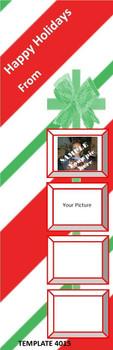 Happy Holidays Theme 2.75 x 8.5 Personalized Premium 16pt Custom Bookmarks