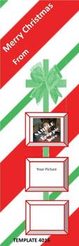 Merry Christmas Theme 2.75 x 8.5 Personalized Premium 16pt Custom Bookmarks