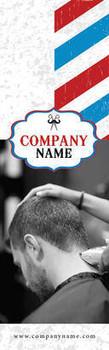 Mens Barber Shop Theme 2.75 x 8.5 Personalized Premium 16pt Custom Bookmarks