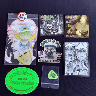 Chub  Art Pack Fairy Faces (includes pin, sticker, magnet, cd, art print, guitar pick) at Kindred Kaboodle Carlisle Pennsylvania