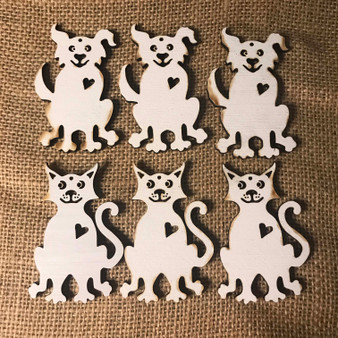 dog cat white washed ornament paint your own cindi hardwicke kindred kaboodle