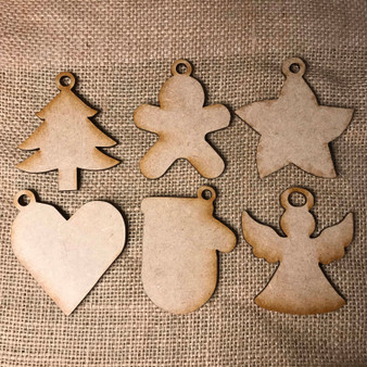 christmas ornaments tree gingerbread man star heart mitten angel make your own cindi hardwicke kindred kaboodle