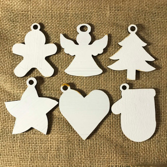 white christmas basic shapes mitten gingerbread man angel tree star heart mitten ornaments paint your own