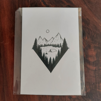 "Tara Sarge 4"" x 6"" Prints Mountain Camp"