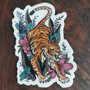 Tiger Small Sticker by Cait Deane at Kindred Kaboodle, Carlisle Pennsylvania