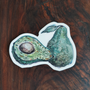 Avocado Small Sticker by Cait Deane at Kindred Kaboodle, Carlisle Pennsylvania