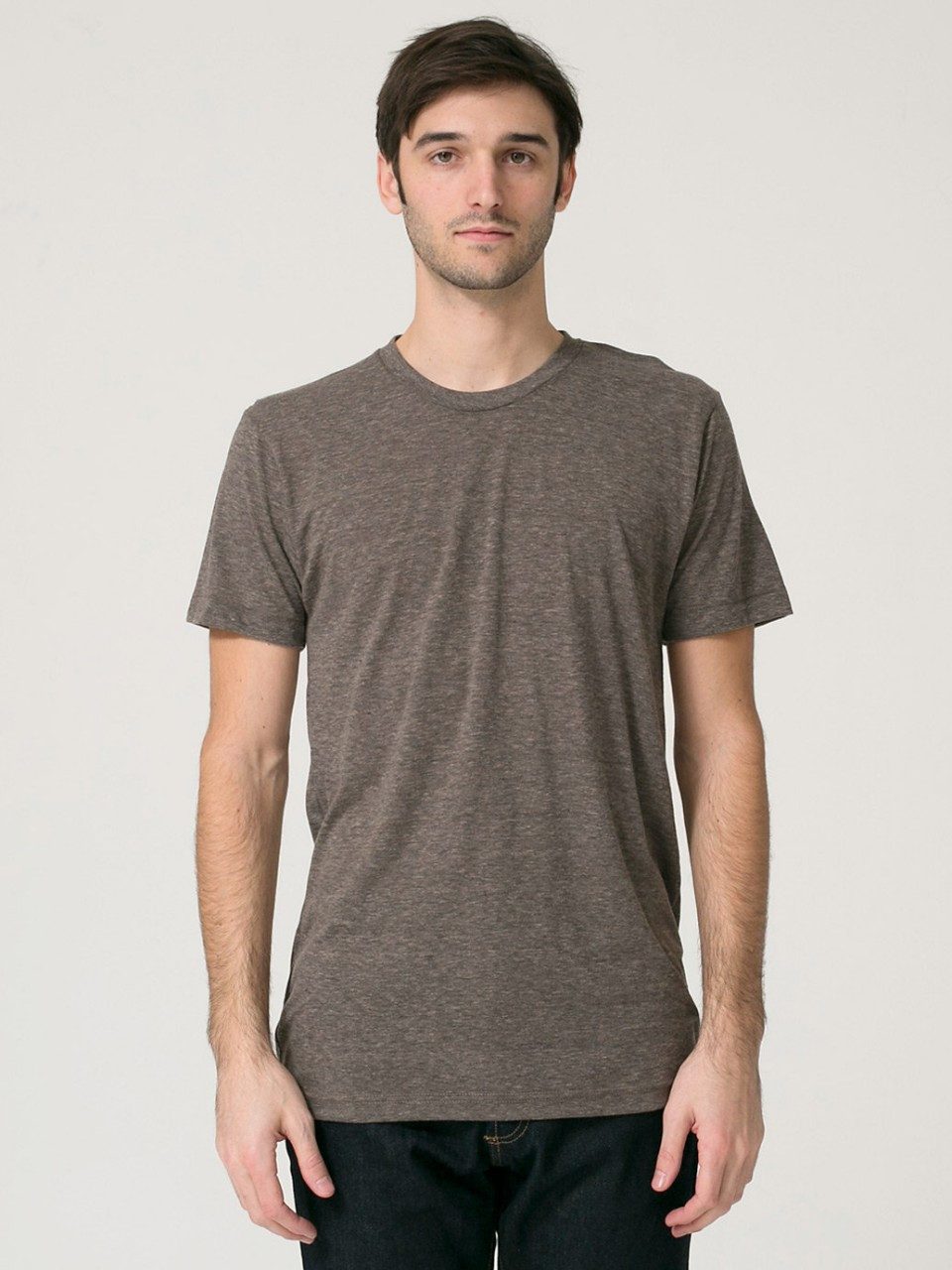1203d2c872b American Apparel TR401   Unisex Tri-Blend Short Sleeve Track Tee. Please  Call for Current Pricing. (You save ). SKU  TR401. Coffee