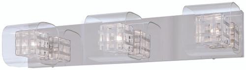 George Kovacs Jewel Box 3 Light Bath In Chrome