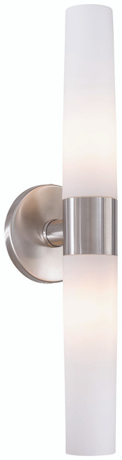 George Kovacs Saber 2 Light Wall Sconce In Brushed Stainless Steel