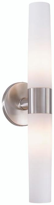 George Kovacs Saber 2 Light Bathroom Fixture in Brushed Stainless Steel, P5042-144
