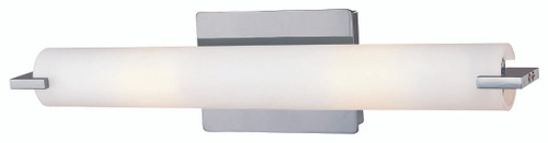 George Kovacs Tube 2 Light Bath In Chrome