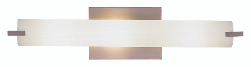 George Kovacs Tube 3 Light Wall Lamp in Brushed Nickel, P5044-084