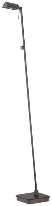 George Kovacs George'S Reading Room™ 1 Light Led Floor Lamp In Copper Bronze Patina