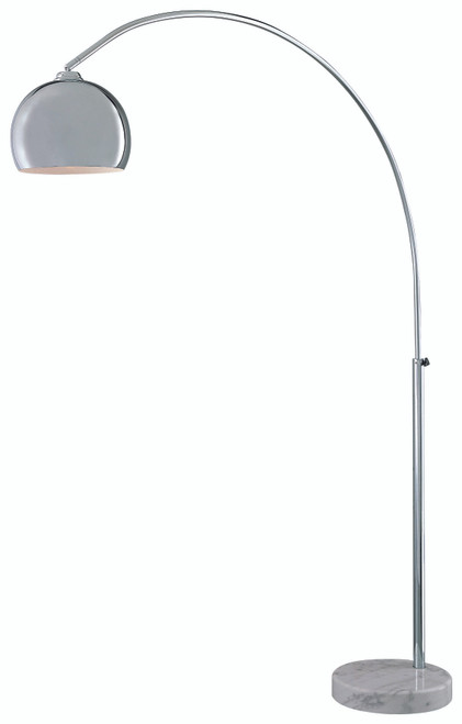 George Kovacs George's Reading Room 1 Light Floor Lamp In Chrome