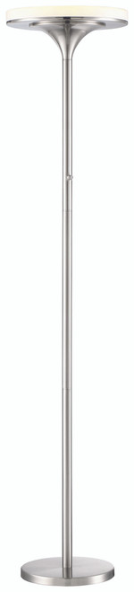 George Kovacs U. H. O. Led Torchiere In Brushed Nickel