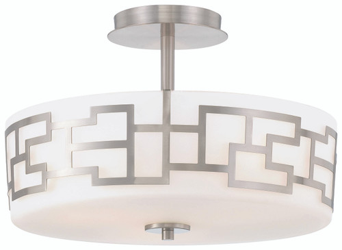 George Kovacs Alecia's Necklace 3 Light Semi Flush In Brushed Nickel