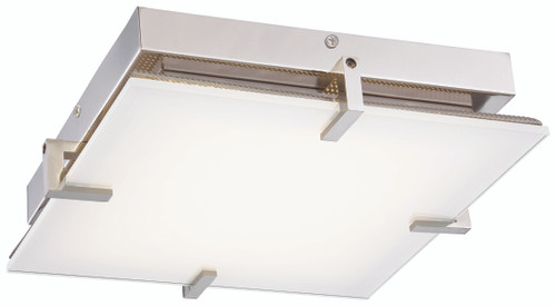 George Kovacs Hooked Led Flush Mount In Polished Nickel