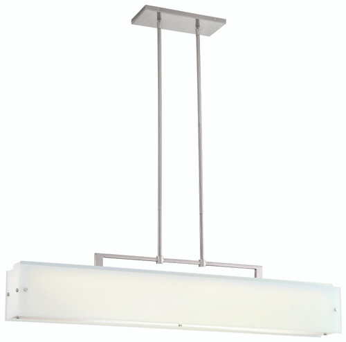 George Kovacs Button Led Island Light In Brushed Nickel