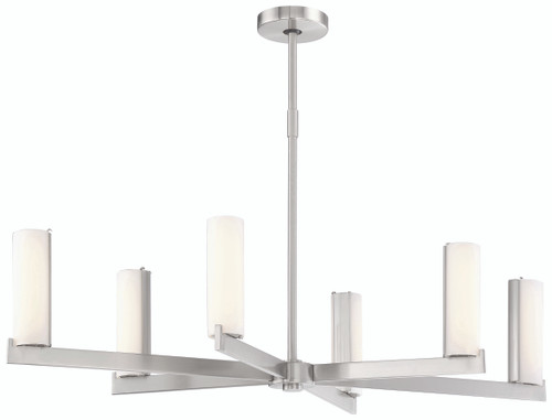 George Kovacs Tube Led Island Light In Brushed Nickel