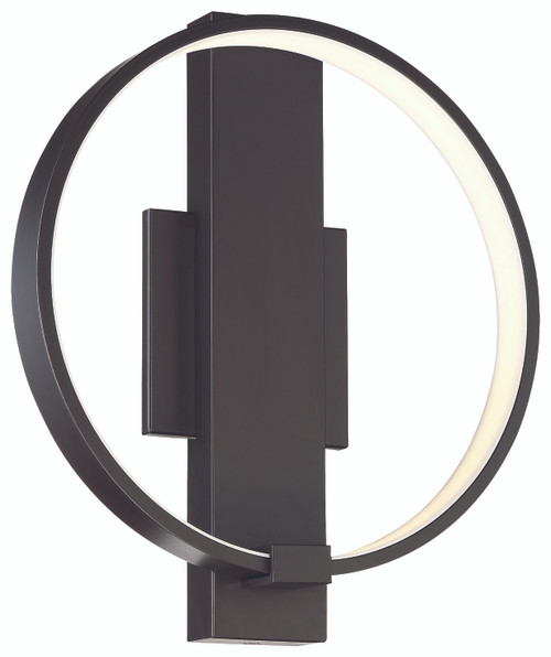 George Kovacs Bypass Led Wall Sconce In Chocolate