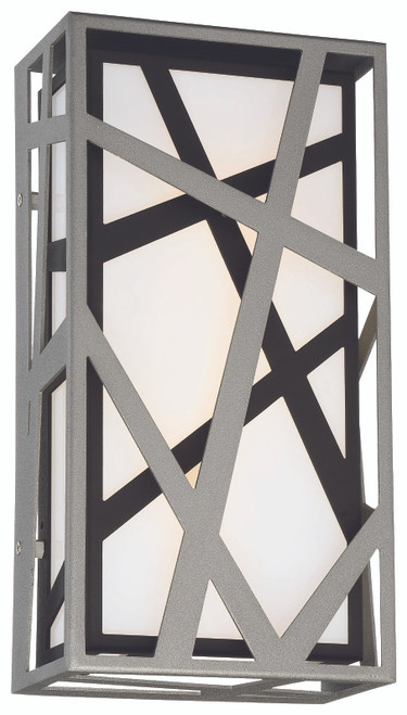 George Kovacs Duvera LED Wall Sconce in Sand Silver+Sand Coal, P1147-658-L