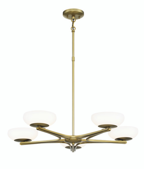 George Kovacs 5 Light Chandelier Led In Soft Rass