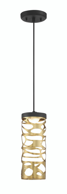 George Kovacs Led Mini Pendant In Coal And Honey Gold