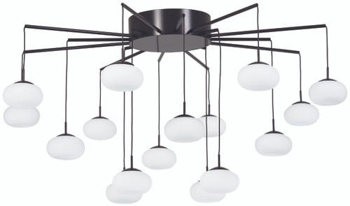 George Kovacs George's Web LED Chandelier(Convertible To Semi Flush) in Bronze with Gold Dust, P8239-671-L