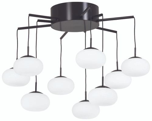 George Kovacs George's Web LED Chandelier in Bronze with Gold Dust, P8236-671-L
