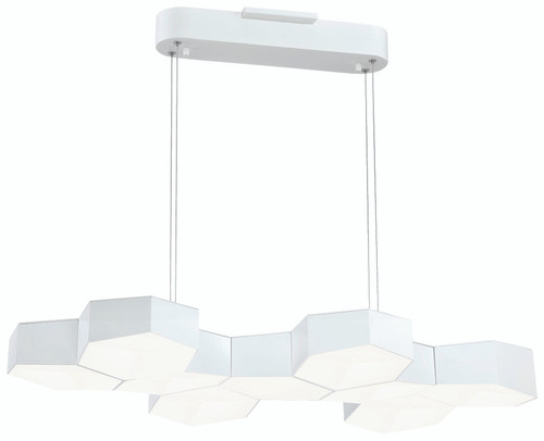 George Kovacs Hexacomb Led Pendant In White