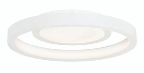 George Kovacs Knock Out LED Flush Mount in White, P2015-044-L