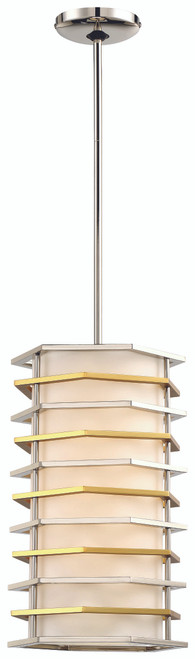 George Kovacs Levels Led Pendant In Polished Nickel W/Honey Gold