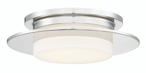 George Kovacs Press Led Flush Mount In Polished Nickel