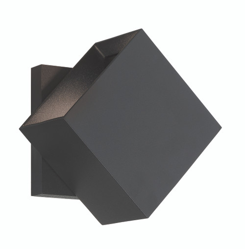George Kovacs Revolve 2 Light LED Twistable Outdoor Wall Sconce in Coal, P1244-066-L