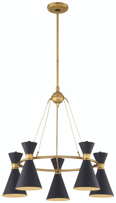 George Kovacs Conic 5 Light Chandelier In Honey Gold
