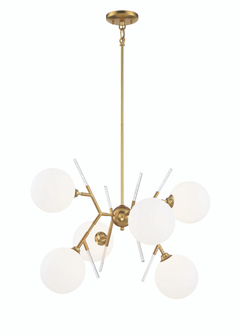 George Kovacs 6 Light Chandelier In Honey Gold