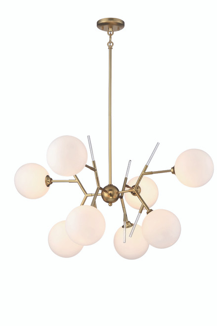 George Kovacs 8 Light Chandelier In Honey Gold