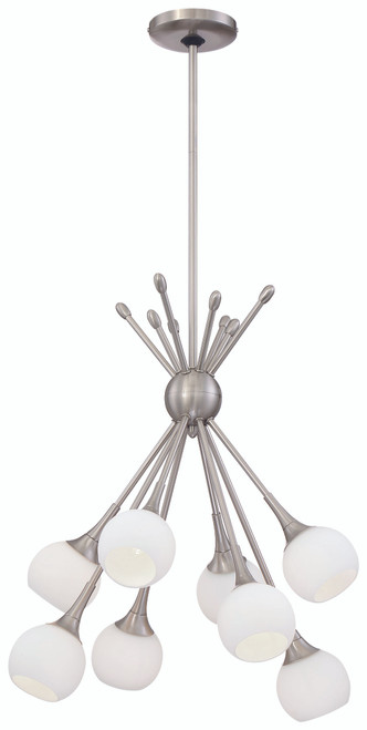 George Kovacs Pontil 8 Light Chandelier In Brushed Nickel