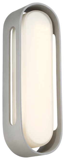 George Kovacs Floating Oval Led Wall Sconce In Sand Silver