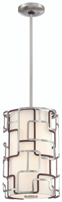 George Kovacs Alecia's Necklace Tiers Led Pendant In Brushed Nickel & Bronze Patina