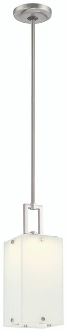 George Kovacs Button Led Mini Pendant In Brushed Nickel