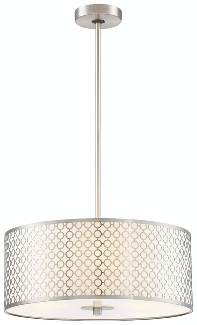 George Kovacs Dots 3 Light Pendant in Brushed Nickel, P1266-084