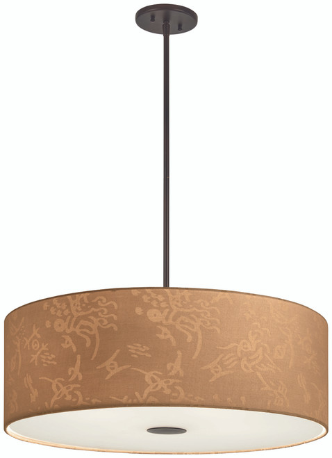 George Kovacs Kimono™ 4 Light Pendant In Antique Dorian Bronze