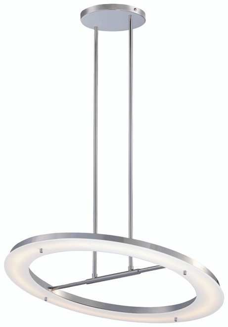George Kovacs Twist And Shout Led Pendant In Chrome