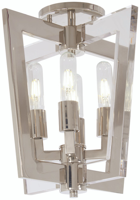George Kovacs Crystal Chrome 4 Light Flush Mount In Polished Nickel