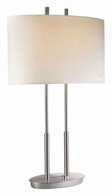 George Kovacs Portables 2 Light Table Lamp In Brushed Nickel