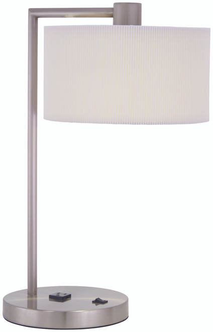 George Kovacs Park™ 1 Light Table Lamp In Brushed Nickel