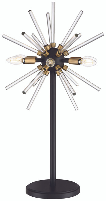 George Kovacs Spiked LED Table Lamp in Painted Bronze with Natural Brush, P1797-416-L